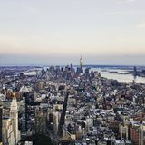 Lower Manhattan från väldetillstånd Fotografering för Bildbyråer