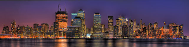 Lower Manhattan in HDR Stock Afbeeldingen