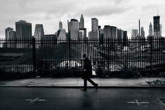 Lower Manhattan i New York City Fotografering för Bildbyråer