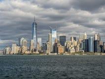 Lower Manhattan i New York City Royaltyfria Bilder