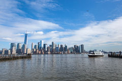 Lower Manhattan from Liberty State Park Royalty Free Stock Photo