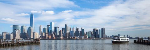 Lower Manhattan from Liberty State Park Royalty Free Stock Images