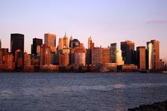 Lower Manhattan linia horyzontu zdjęcia stock