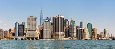 Lower Manhattan linia horyzontu, usa Obraz Royalty Free