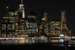 Lower Manhattan, minuit Photos libres de droits