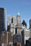 Lower Manhattan nära ground zero Arkivfoto