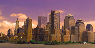 Lower Manhattan, New York Foto de Stock Royalty Free