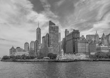 Lower Manhattan in New York City Royalty Free Stock Image