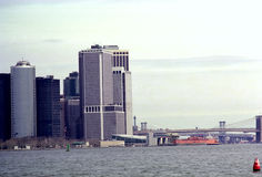 Lower Manhattan New York Waterfront Skyline USA Stock Photography