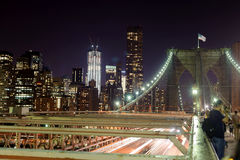Lower Manhattan At Night Royalty Free Stock Photo
