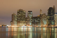 Lower Manhattan At Night Stock Images