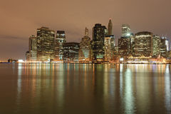 Lower Manhattan At Night Stock Image