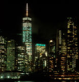 Lower Manhattan at night. Royalty Free Stock Photo