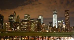 Lower Manhattan. Night Royalty Free Stock Photography