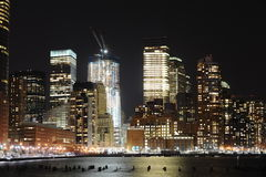 Lower Manhattan At Night Royalty Free Stock Images