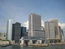 Lower Manhattan NYC at daytime from the staten island ferry Stock Photos