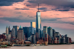 Lower Manhattan NYC from Weehawken NJ Royalty Free Stock Photo