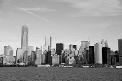 Lower Manhattan och en World Trade Center Arkivfoton