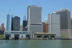 Lower Manhattan och finansiellt område Arkivbild