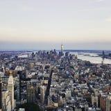 Lower Manhattan od Empirowego stanu Obraz Stock