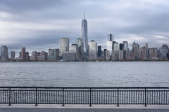 Lower Manhattan and One World Trade Center or Freedom Tower New York City Royalty Free Stock Photos