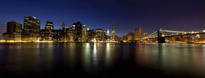 Lower Manhattan panorama Royalty Free Stock Images
