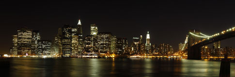 Lower Manhattan panorama Royalty Free Stock Photo