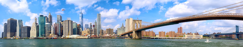 Lower Manhattan panorama Stock Photography