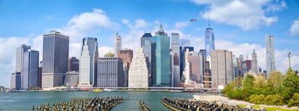 Lower Manhattan panorama Stock Image