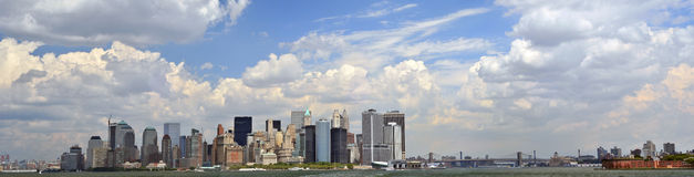 Lower Manhattan panorama Stock Images