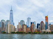 Lower Manhattan pejzaż miejski Zdjęcie Stock