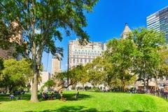 Lower Manhattan Pieniężny kapitał Ameryka jest Miasto Nowy Jork wi Obrazy Stock