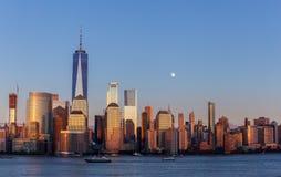 Lower Manhattan przy Złotą godziną Obraz Royalty Free