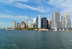 Lower Manhattan-Skyline Stockbilder
