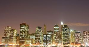 Lower Manhattan skyline stock photography