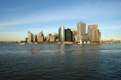 Lower Manhattan Skyline. Lower Manhattan seen from the Staten Island ferry on a VERY cold December day Royalty Free Stock Image