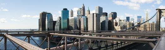 Lower Manhattan-Skyline Lizenzfreies Stockfoto