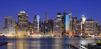 Lower Manhattan Skyline Royalty Free Stock Photos
