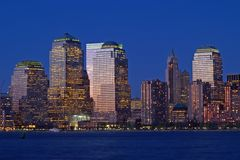 Lower Manhattan Skyline royalty free stock photography