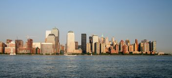The Lower Manhattan Skyline royalty free stock photo