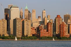 The Lower Manhattan Skyline Royalty Free Stock Image
