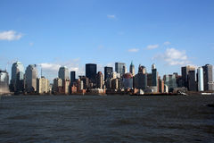 Lower Manhattan-Skyline Lizenzfreies Stockbild