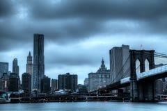 Lower Manhattan-Skyline Stockbild