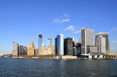 Lower Manhattan-Skyline Lizenzfreies Stockfoto