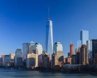 Lower Manhattan-Skyline Lizenzfreie Stockfotos