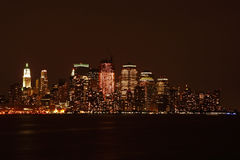 Lower Manhattan skyline Stock Image