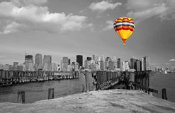 The Lower Manhattan skyline Royalty Free Stock Photography