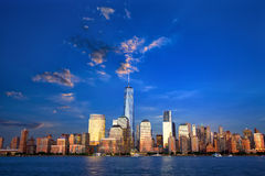 Lower Manhattan skyline Royalty Free Stock Images
