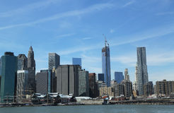 Lower Manhattan skyline Stock Photos