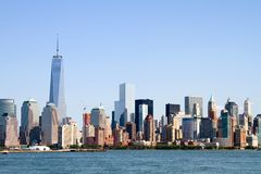 Lower Manhattan Skyline. Skyline of lower Manhattan Island in New York City, New York, USA, as viewed from across the Hudson River Stock Photos